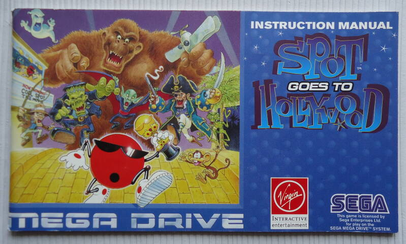 Mega Drive - Spot Goes to Hollywood | instruction booklet (PAL)