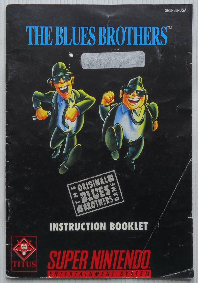 Super Nintendo - Blues Brothers, The | instruction booklet (USA)