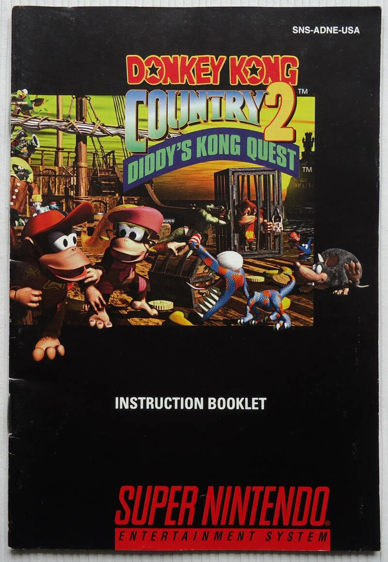Super Nintendo - Donkey Kong Country 2: Diddy's Kong Quest | instruction booklet (USA)