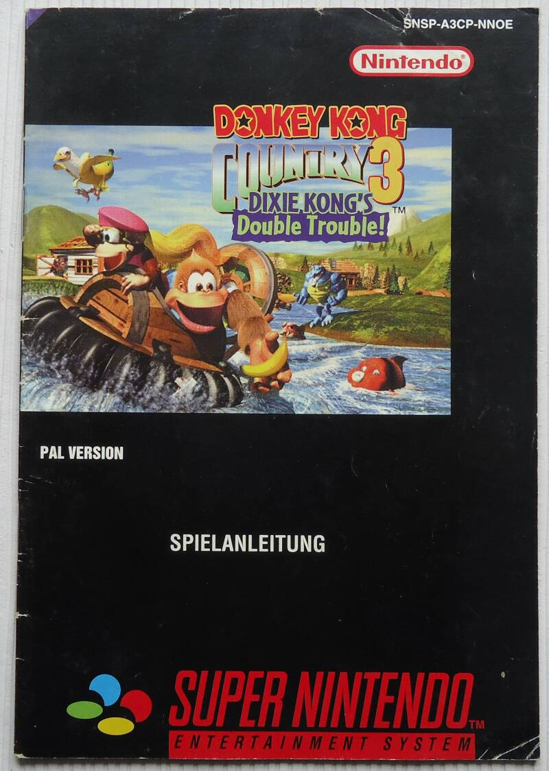 Super Nintendo - Donkey Kong Country 3: Dixie Kong's Double Trouble! | instruction booklet (NOE)