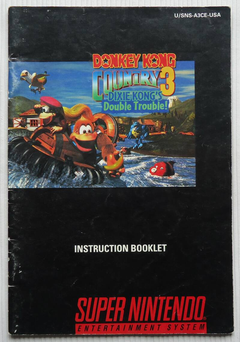 Super Nintendo - Donkey Kong Country 3: Dixie Kong's Double Trouble!   instruction booklet (USA)