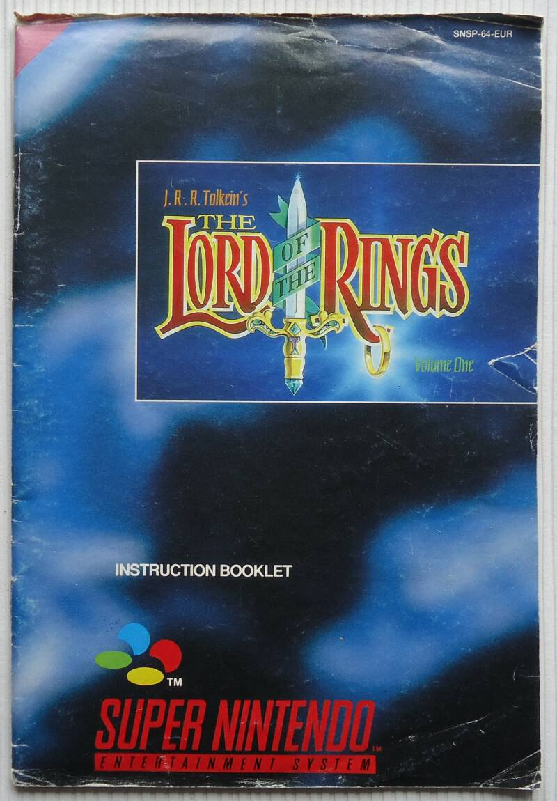 Super Nintendo - Lord of the Rings, J.R.R. Tolkien's | instruction booklet (EUR)