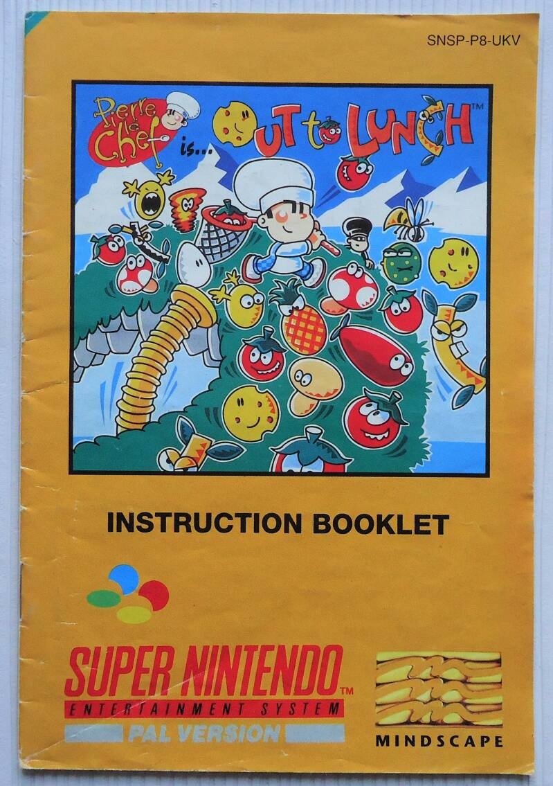 Super Nintendo - Pierre le Chef Is out to Lunch | instruction booklet (UKV)