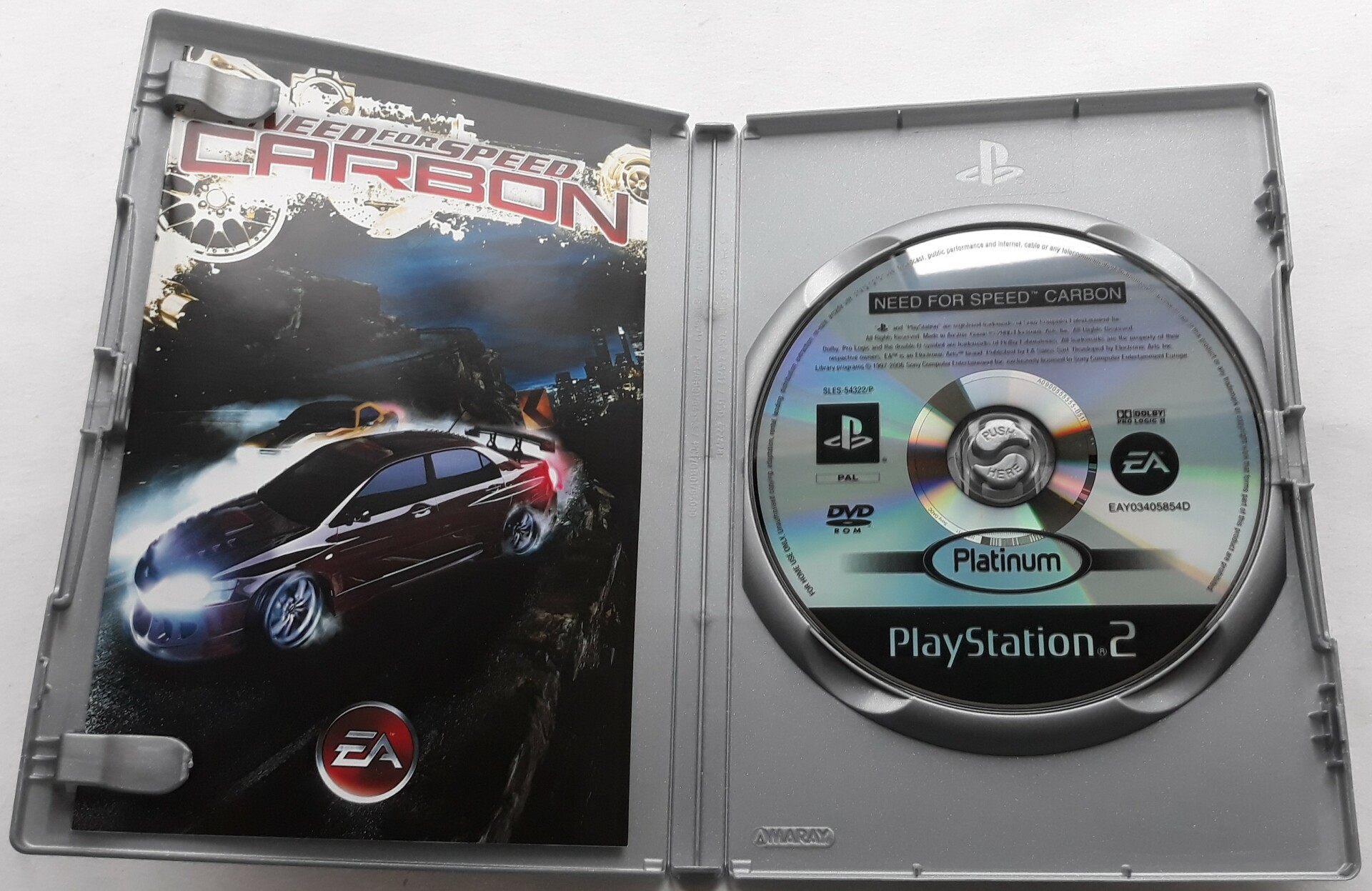 Ps2 Need For Speed Carbon Pal Platinum Vinjat Video Games
