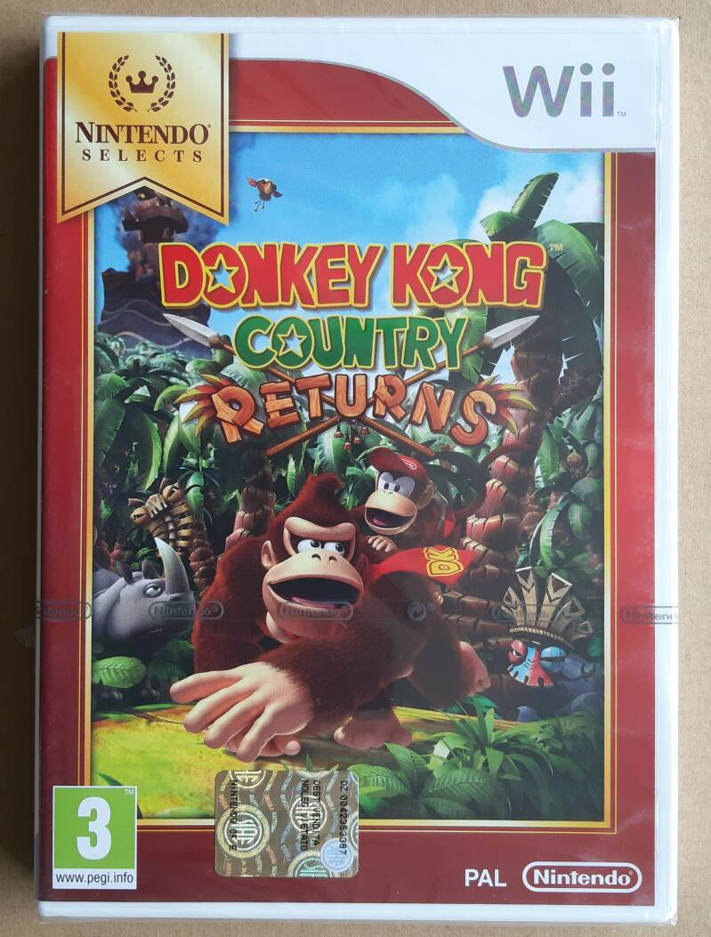 Wii - Donkey Kong Country Returns (PAL) factory sealed Nintendo Selects