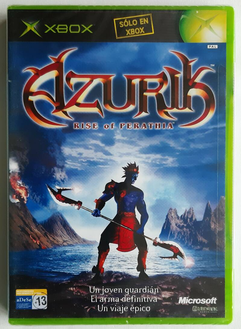 Xbox - Azurik: Rise of Perathia (PAL) factory sealed