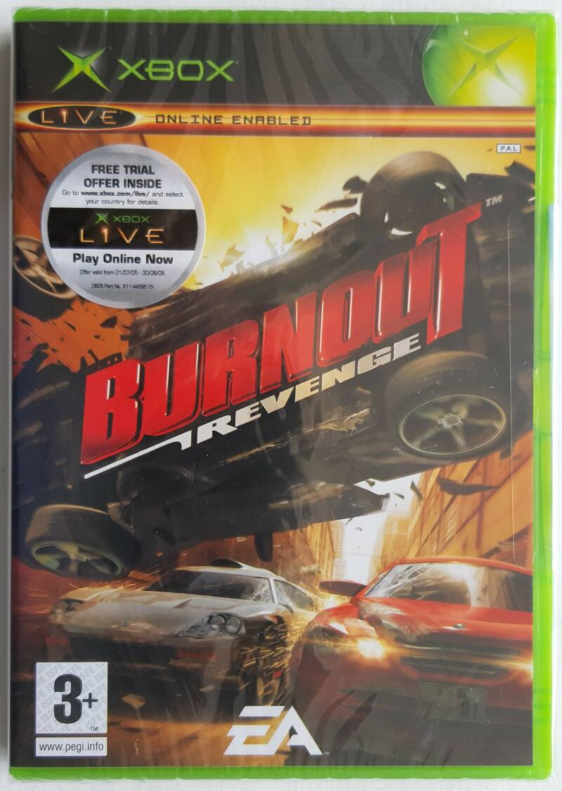 Xbox - Burnout Revenge (PAL) factory sealed - not for resale