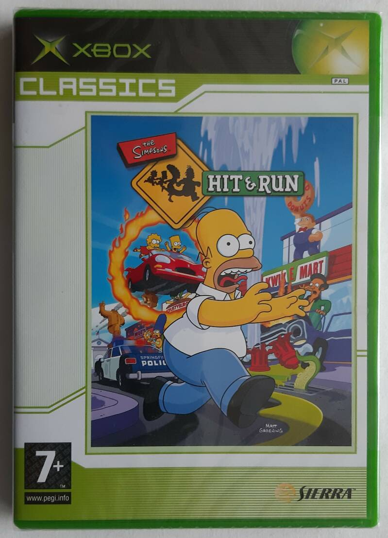 Xbox - Simpsons: Hit & Run, The (PAL) factory sealed (Classics)