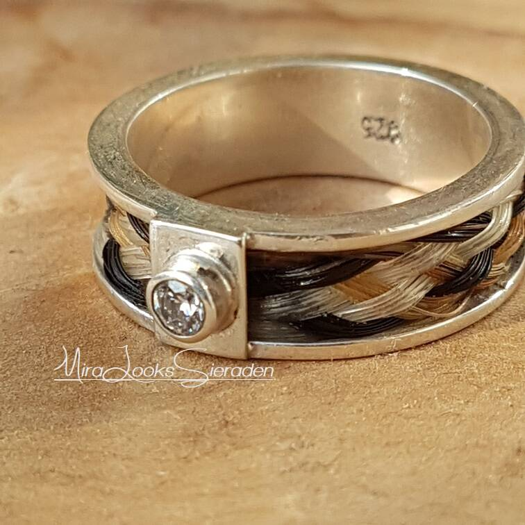 Ring met zirkonia - 5 mm inleg