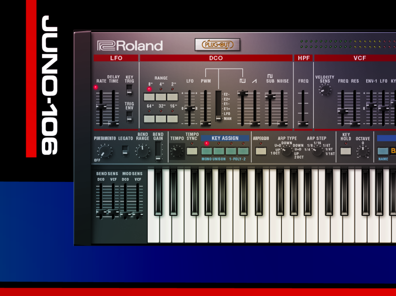 Roland JUNO-106 Lineaire Software Synthesizer Plugin VST - 2021