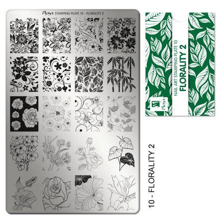 Stampingplate nr. 10 Florality 2