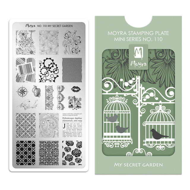 Stampingplate Mini 110. My secret garden