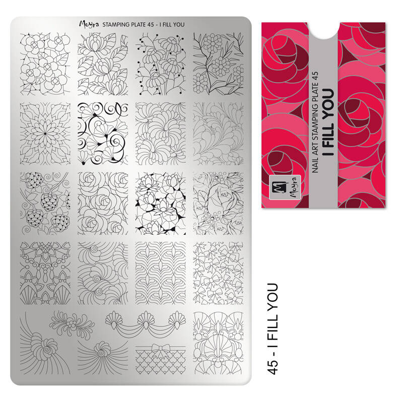 Stampingplate nr. 45 I Fill You