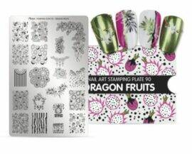 Stampingplate nr. 90 Dragon Fruits