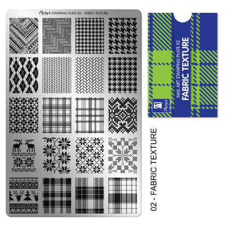 Stampingplate nr. 02 Fabric Texture