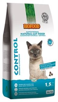 BIOFOOD CAT CONTROL URINARY & STERILISED 1,5 KG OF 10KG