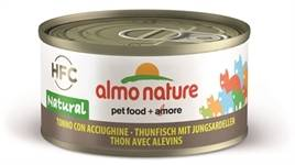 ALMO NATURE CAT TONIJN/SARDINES 70 GR OF 24 X 70GR