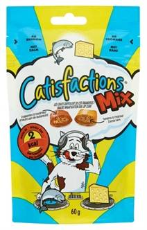 CATISFACTIONS MIX ZALM/KAAS 60 GR