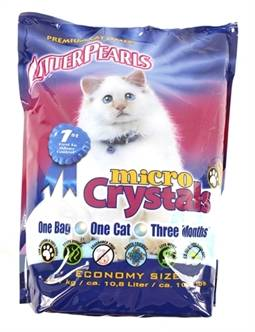 LITTER PEARLS MICRO CRYSTALS 10,5 LBS / 4,76 KG