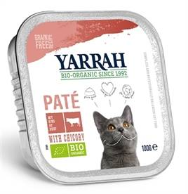 YARRAH CAT KUIPJE WELLNESS PATE RUND/CHICHOREI 16 X 100GR