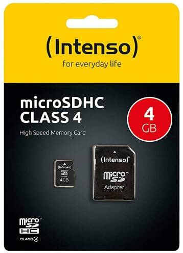Intenso Micro SDHC 4GB Class 4 geheugenkaart incl. SD-adapter