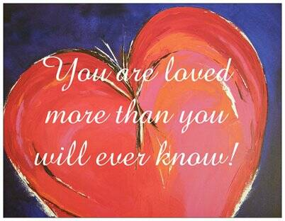 You are loved (hart)