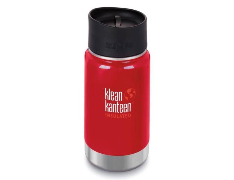 Thermosfles/beker - brede opening - Mineral red - 355 ml | Klean Kanteen