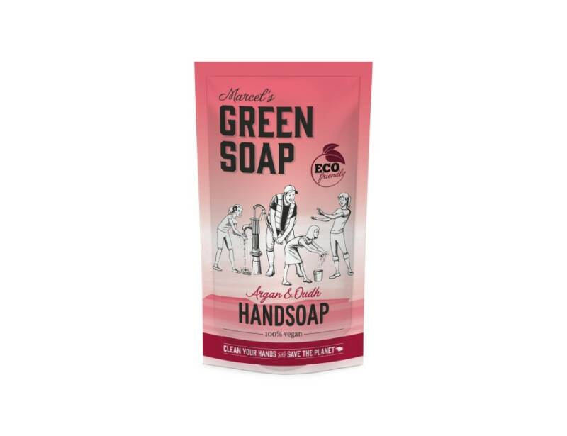 Handzeep Argan & Oudh 500ml navulzak | Marcels Green Soap
