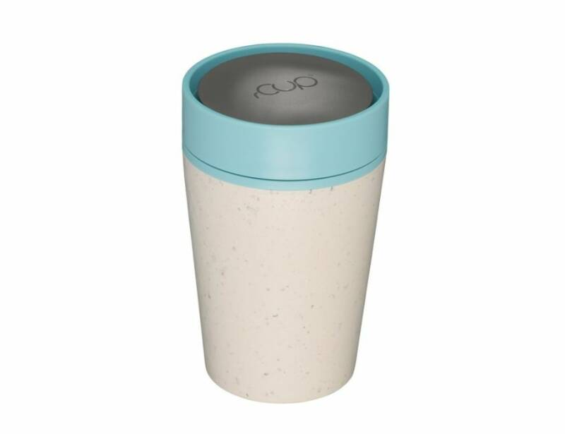 rCUP 227 ml - Cream and Teal | A short walk