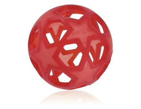 Star Ball - Speelbal natuurrubber baby Raspberry Red | Hevea