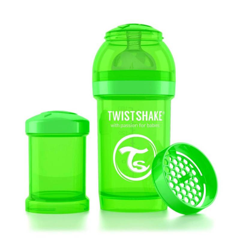 Twistshake Fles 180ml groen