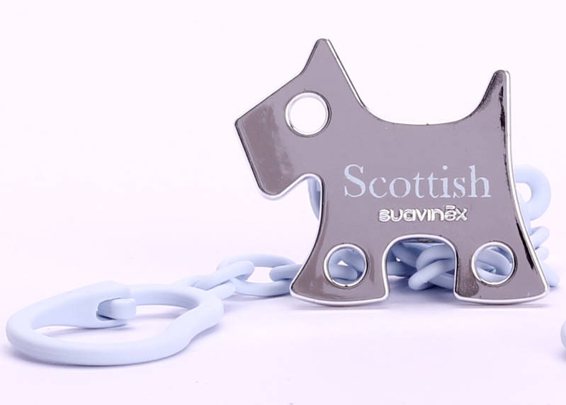 "Suavinex ""scottish"" fopspeenketting (blauwe hond)"