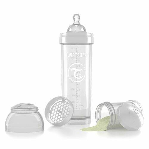Twistshake Fles 330 ml wit