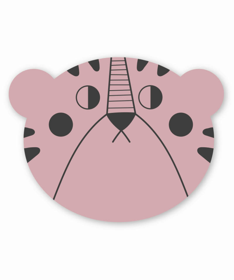 Studioloco - Mrs bear placemat-Pink