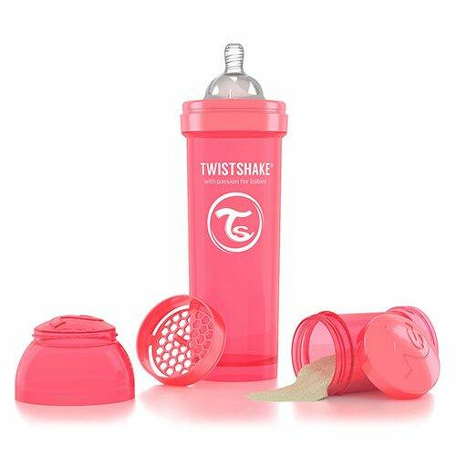 Twistshake Fles 330 ml Perzik