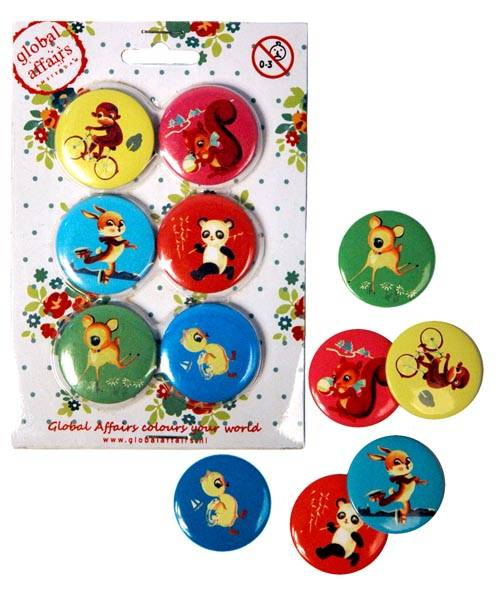 Vintage buttons (6 in 1)