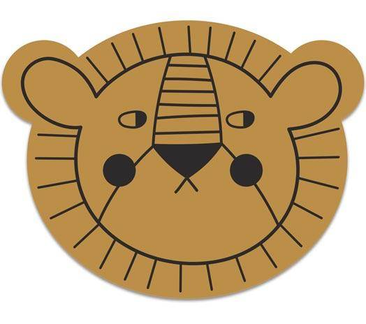 Studioloco - Mr Lion placemat-Mustard