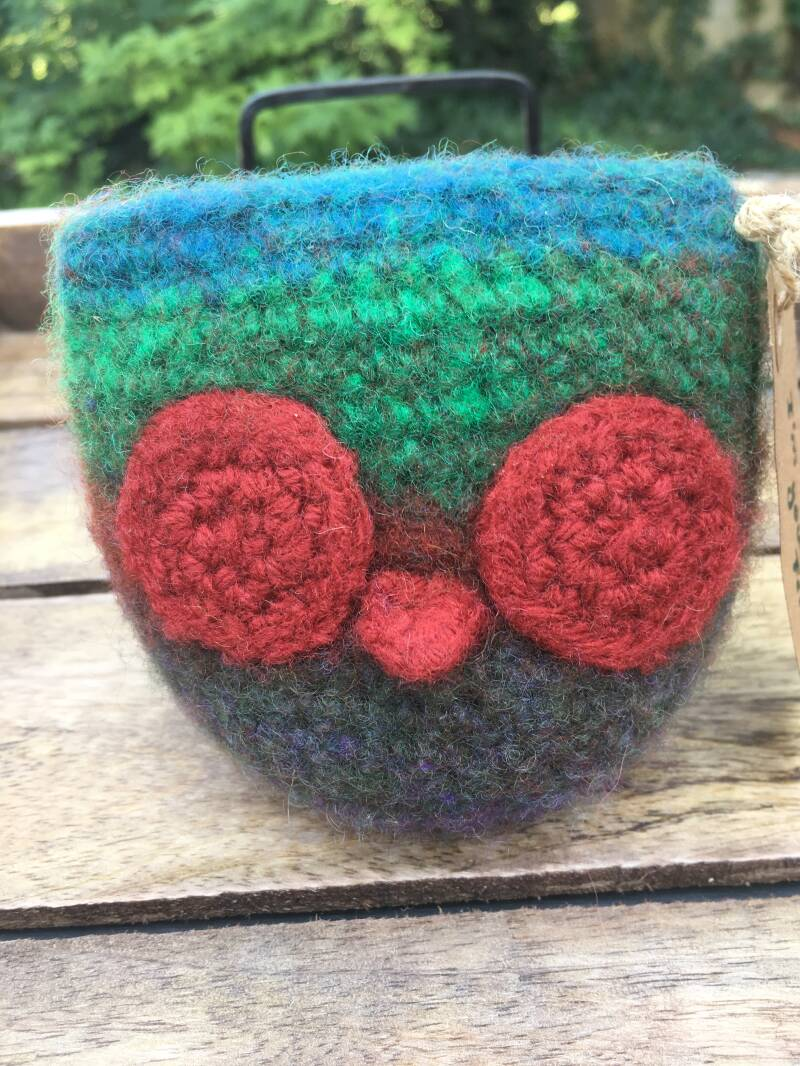 Friend - Owl, colourful & red