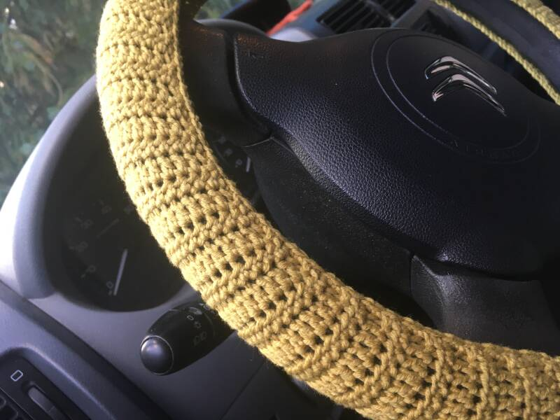 Steering Wheel Cover - light olive green