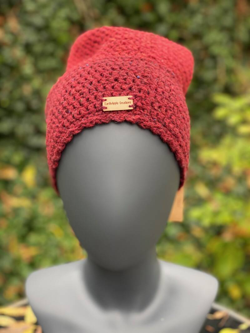 Two-Tone Beanie - Red & Red