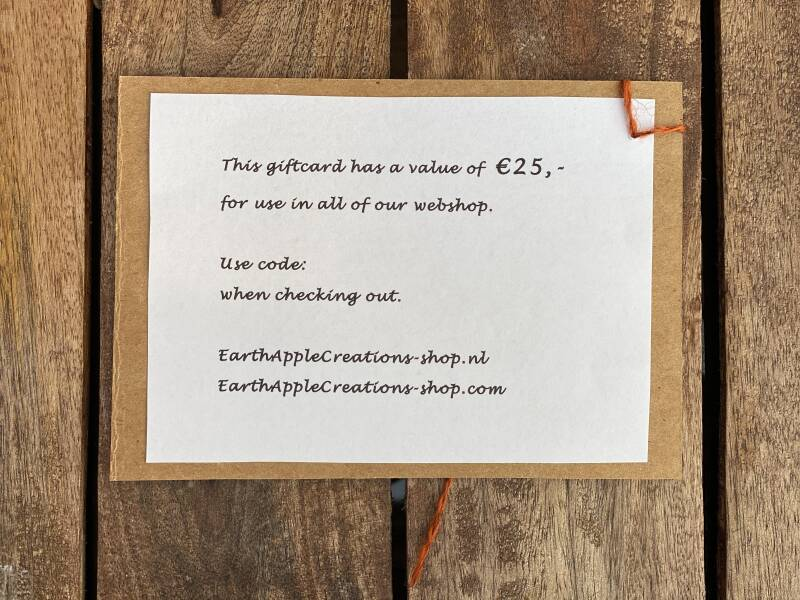 GiftCard - € 25,-