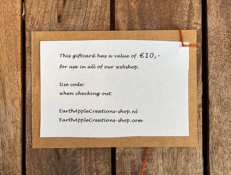 GiftCard - € 10,-