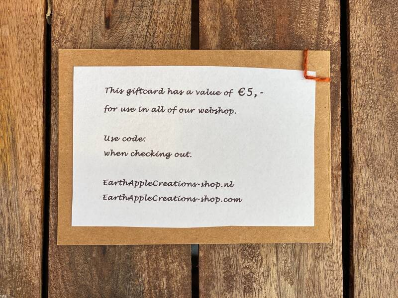 GiftCard - € 5,-
