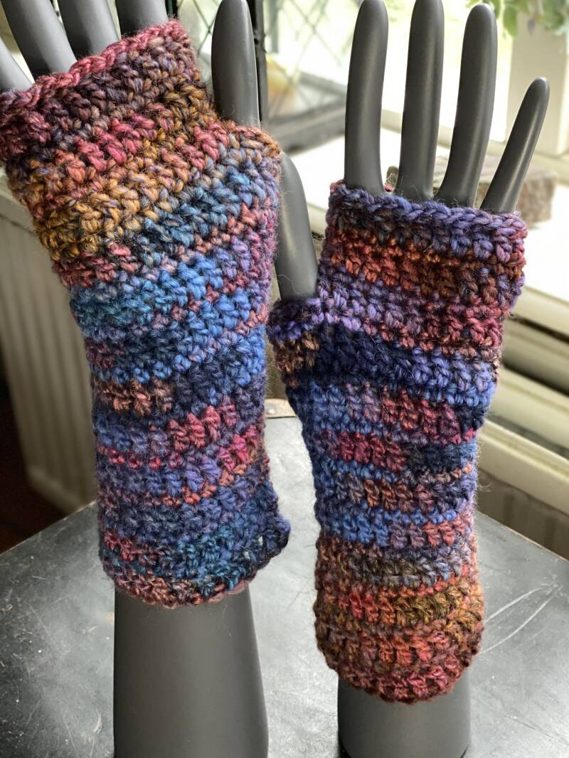 Mittens - Blue & colourful