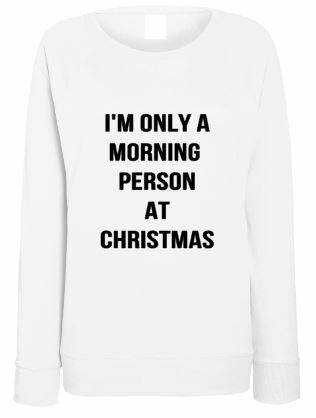 Kerst Sweater  I'm only a morning person at christmas