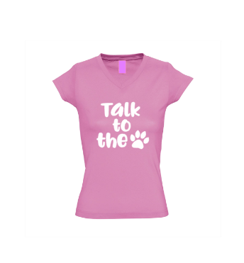 Dames shirt Talk to the paw
