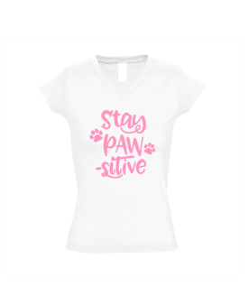 Dames shirt Stay Pawsitive