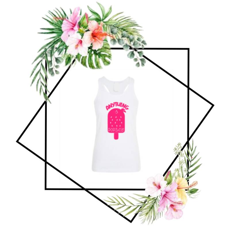 Dames tanktop Anything is popsicle