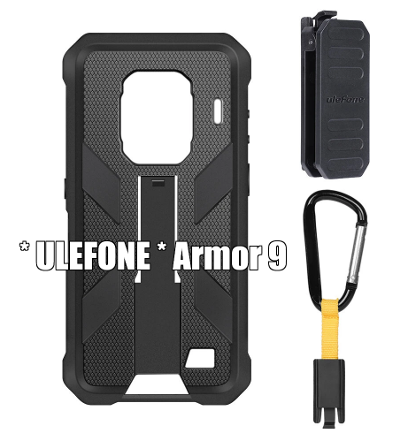 * Armor 9 * Original Case with Belt Clip and Carabiner