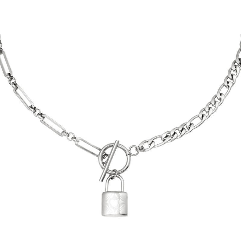 Ketting chain & lock - zilver